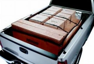 Illustration for article titled Truck Bed Cargo Net Secures Your Junk, Sans Bungee Mess