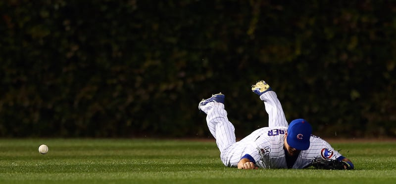 Illustration for article titled What The Hell Was Kyle Schwarber Doing In Left Field?
