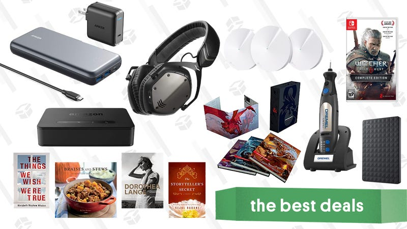 Illustration for article titled Tuesday's Best Deals: V-Moda Headphones, Kindle eBooks, TP-Link Mesh Routers, and More