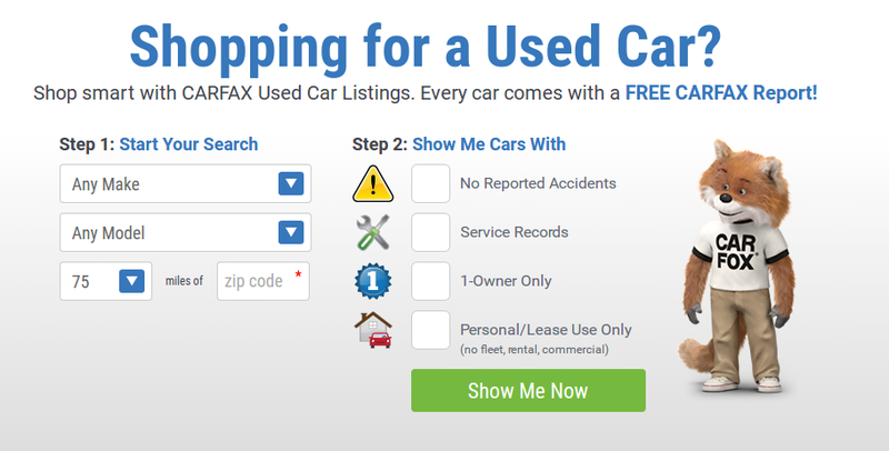 Illustration for article titled You Can Now Search For Used Cars On Carfax.com