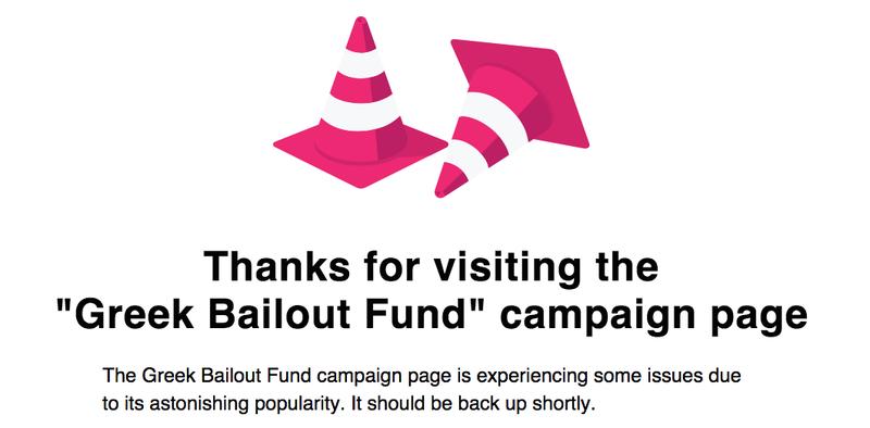 Illustration for article titled La campaña de crowdfunding para pagar la deuda griega colapsa Indiegogo