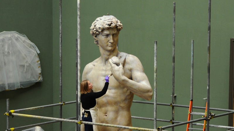 Michelangelo Bronzes Identified by Pubes, Toes, and Eight-Pack Stomachs