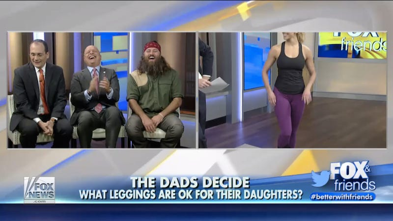 Illustration for article titled Fox News Invites 'Panel of Fathers' to Discuss the Merits of Leggings