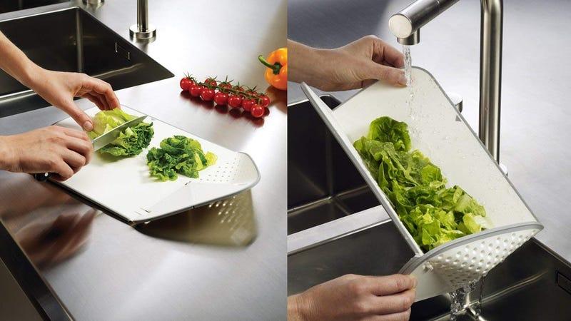 Joseph Joseph Rinse & Chop Plus Cutting Board | $12 | Amazon