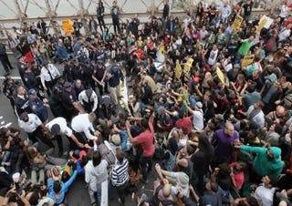 Occupy Wall Street movement during its peak (Getty Images)