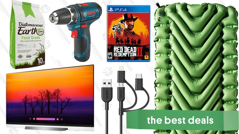 Illustration for article titled Tuesday's Best Deals: Klymit Pads, Red Dead Bundle, OLED TVs, and More