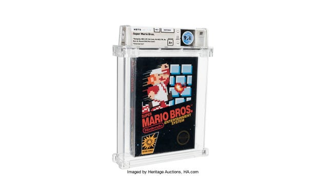 Sealed Super Mario Bros. Cartridge Sells for a Record-Breaking $660,000 at Auction
