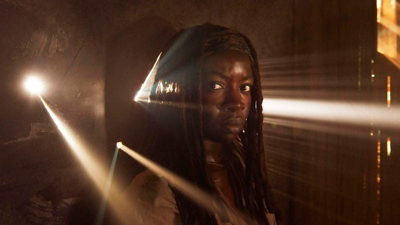 Illustration for article titled Here's an exclusive picture of Michonne from The Walking Dead that tells us nothing new about The Walking Dead