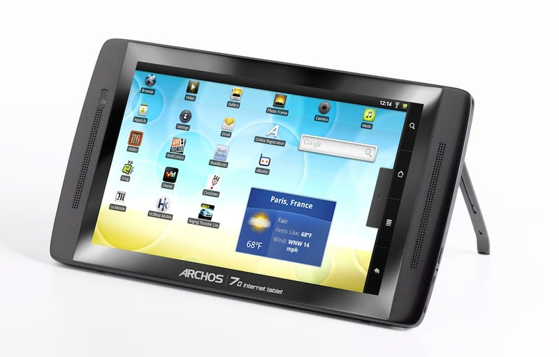 Illustration for article titled Archos Android Tablet Holds 250GB HDD, Yet Still Remains Slender