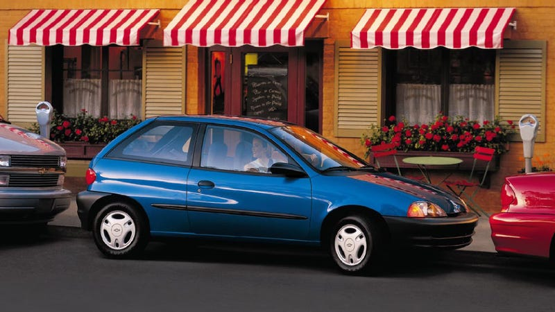 2000 Chevy Metro pictured