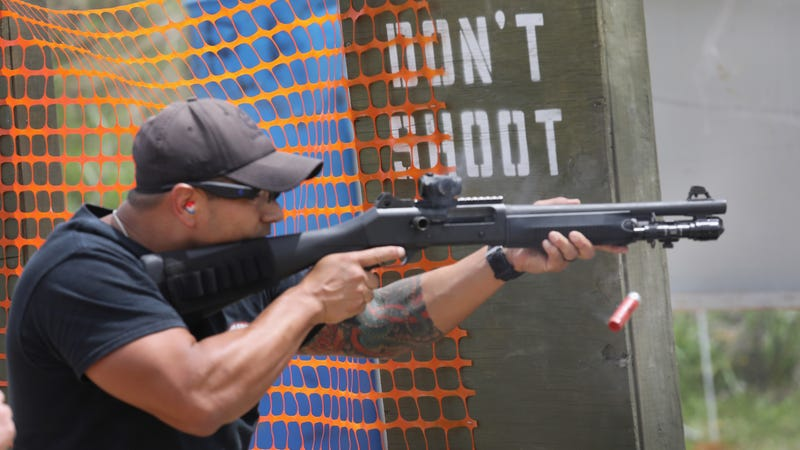 A Border Patrol trainee near San Antonio in 2017.