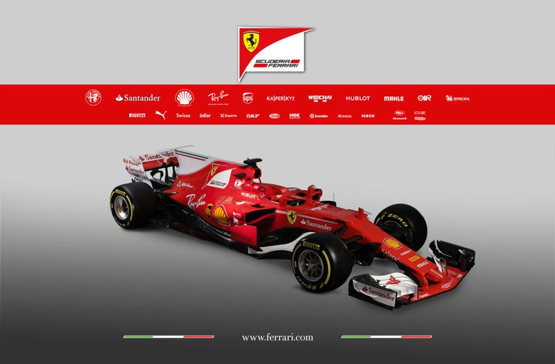Illustration for article titled Backmarker F1 Team Unveils Ferrari SF-70H (UPDATE: Ultra Hi-Res Photos)