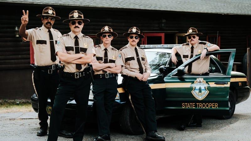 Cop Grabs Guys Dick