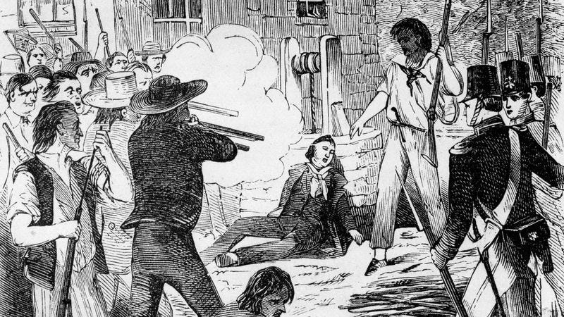 """Death Of Joseph Smith."" This happened in 1844, a few years after the Missouri clashes. (Photo: Interim Archives/Getty Images)"