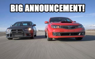 Illustration for article titled Subaru Owners club merging with local Mitsubishi Evo and Mirage club