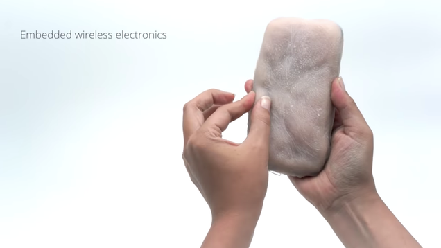 What your phone needs is a supple, pinchable coat of human skin, apparently
