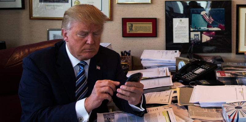 Image result for trump on the phone