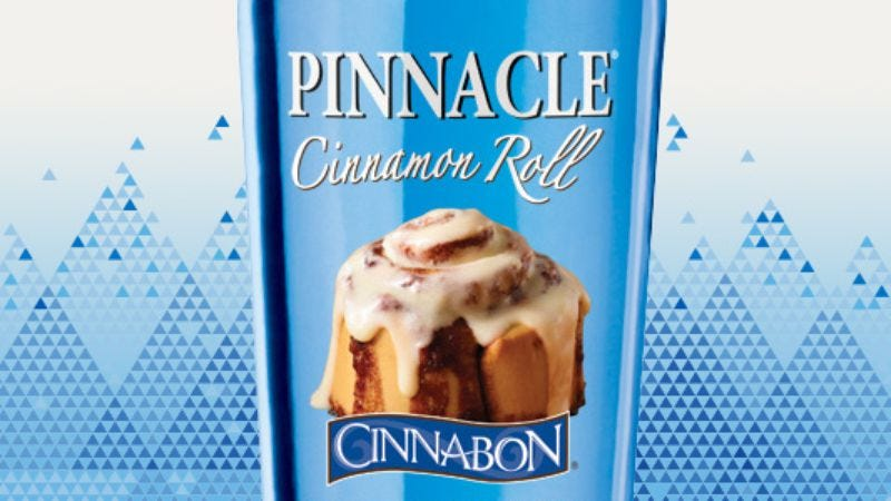 Illustration for article titled Stop mushing your Cinnabon into your vodka, because now there's Cinnabon vodka