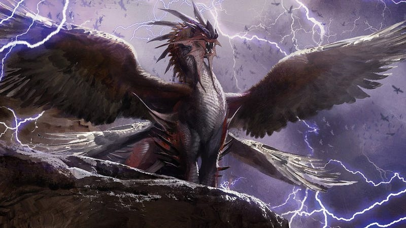Illustration for article titled Dragons Rule The Skies In The Latest Magic: The Gathering Expansion