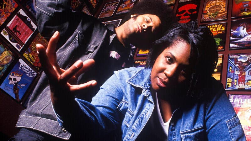 Boots Riley and Pam The Funkstress, from The Coup. (Photo: Anthony Pidgeon/Getty Images)