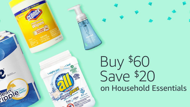 Spend $60, Save $20 on Household Essentials