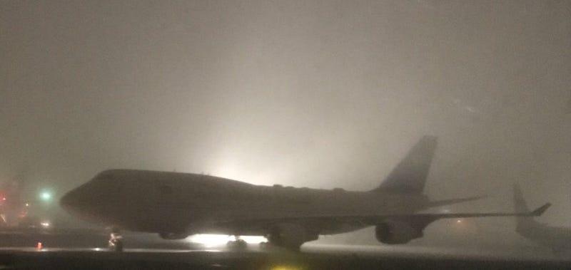 Illustration for article titled Fog at JFK