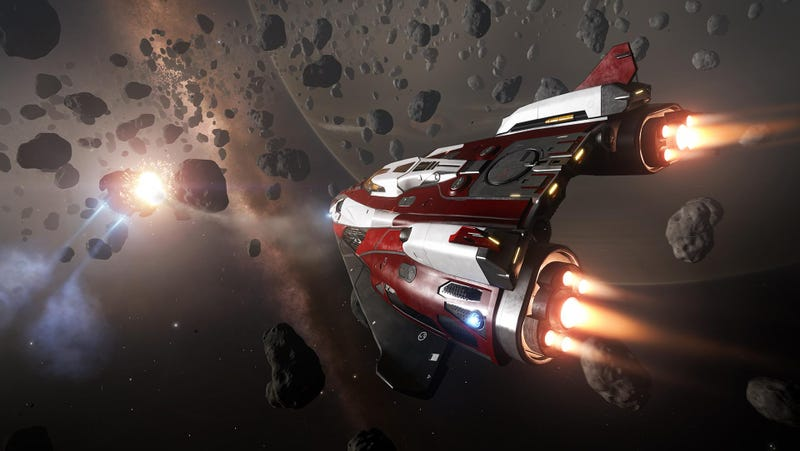 Illustration for article titled Elite: Dangerous Player Spends A Month Drawing Game's Logo In Space