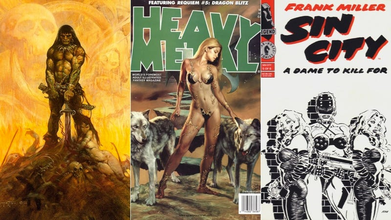 Illustration for article titled Robert Rodriguez's Next Projects: Sin City 2, Heavy Metal, Frank Frazetta... and Machete in Space!