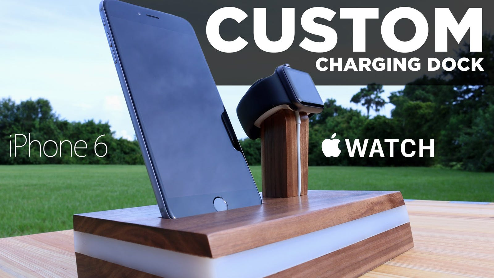 Make A Custom Apple Watch And Iphone Charging Dock To Power Up In Style