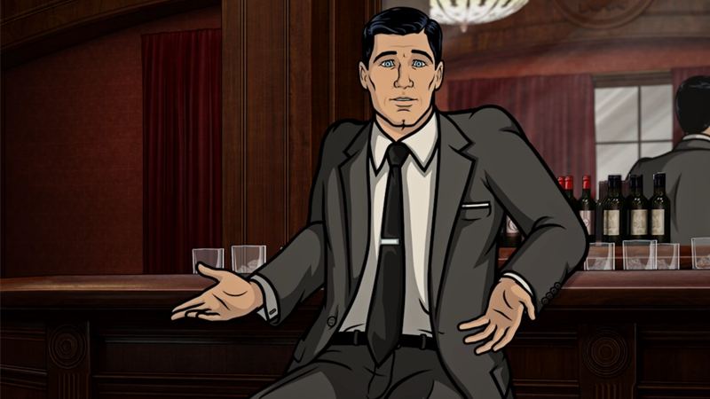 sterling archer reviewing every james bond film is as delightful as