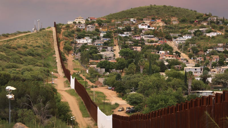 Existing border fence on the U.S.-Mexico border near Nogales, Arizona
