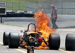 Illustration for article titled Properish Fuel Etiquette (and How To Not Set Yourself On Fire At A Racetrack)