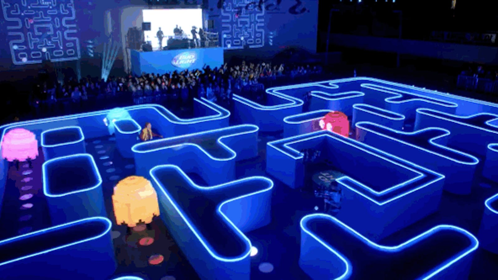 Un Pac-Man a tamaño real para uno de los mejores spots de la Super Bowl
