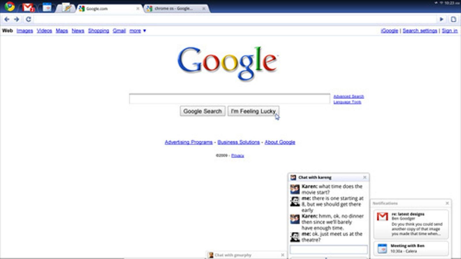 Google Chrome OS To Have Remote Desktop-Like