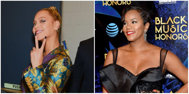 (L-R) Beyonce poses backstage during TIDAL X: 1015 on October 15, 2016 in New York City; LeToya Luckett attends the 2018 Black Music Honors on August 16, 2018 in Nashville, Tenn.