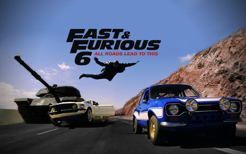 Illustration for article titled Fast and the Furious 6: buckle up every which way but loose...