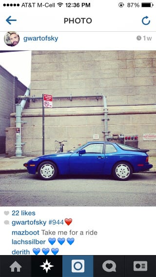 Illustration for article titled People posting pictures of my car on Instagram will never get old.