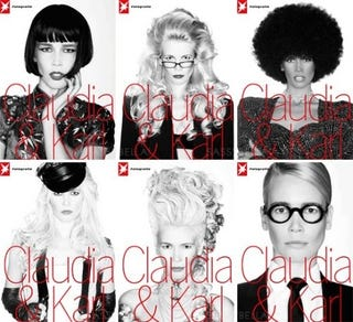 Illustration for article titled Karl And Claudia Do Blackface; Rihanna Might Book D&G