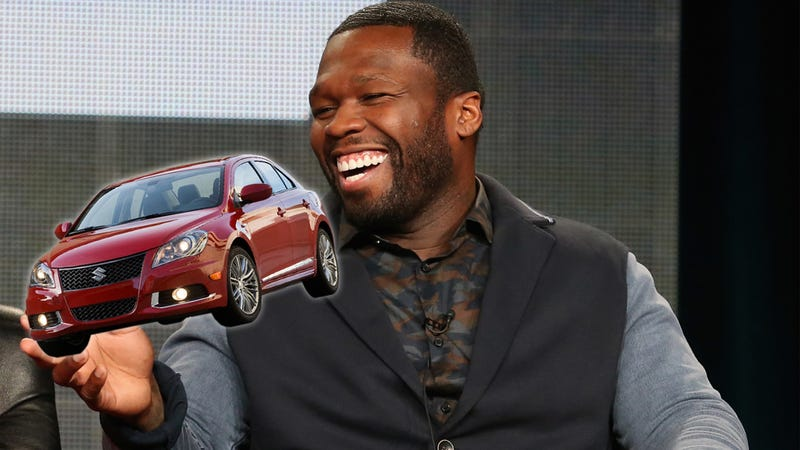 Illustration for article titled 50 Cent Owns An Absolutely Awesome Suzuki Kizashi Sport