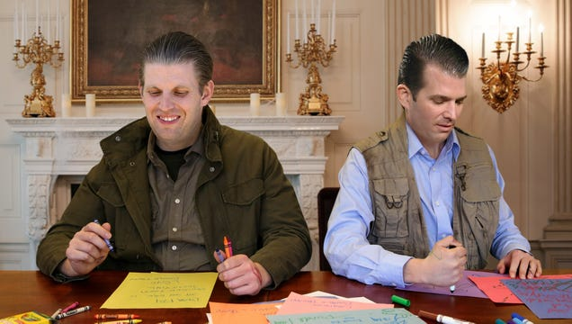 Trump Boys Forge Father's Signature On Letters They Wrote Excusing Them From Any More Testifying