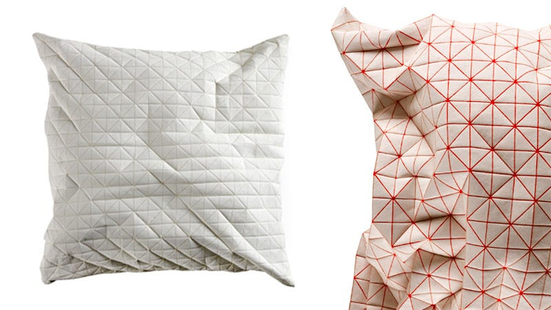Illustration for article titled Not Even a Robot Would Find These Polygonal Pillows Comfortable