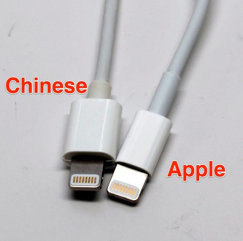 Cable iphone original vs fake