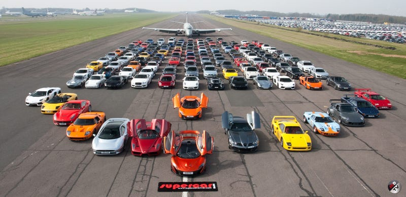 Illustration for article titled This Unbelievable Supercar Meet Will Melt Your Brain
