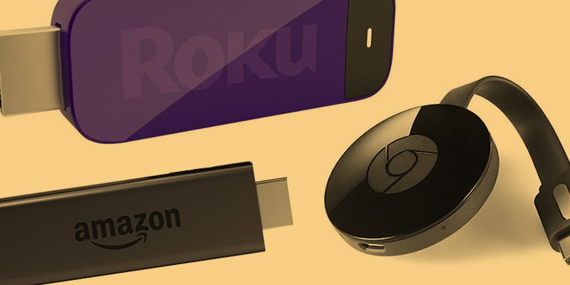 Illustration for article titled New Chromecast vs New Fire TV Stick vs Roku Stick: Streaming Dongle Showdown 2015