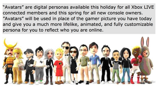 Illustration for article titled Xbox 360's Rumored Avatars Might Be Their Nintendo Miis