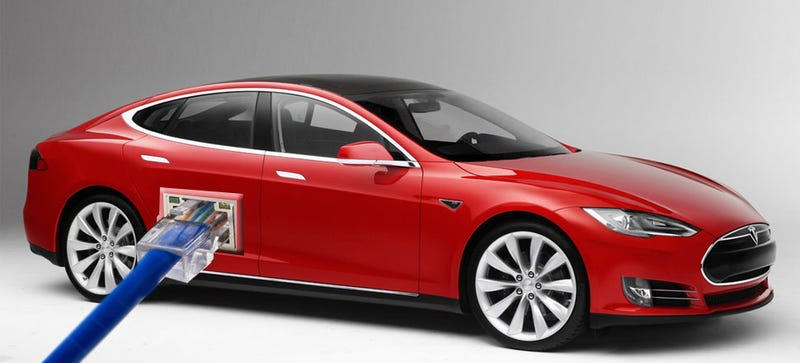 Ilration For Article Led The Tesla Model S Is Basically A Good Looking It Department On