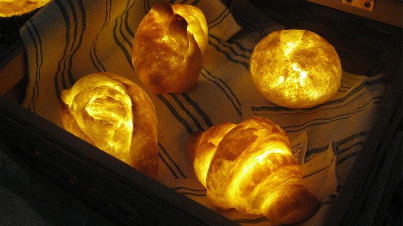Illustration for article titled Lamps Made From Real Bread Must Smell Delicious