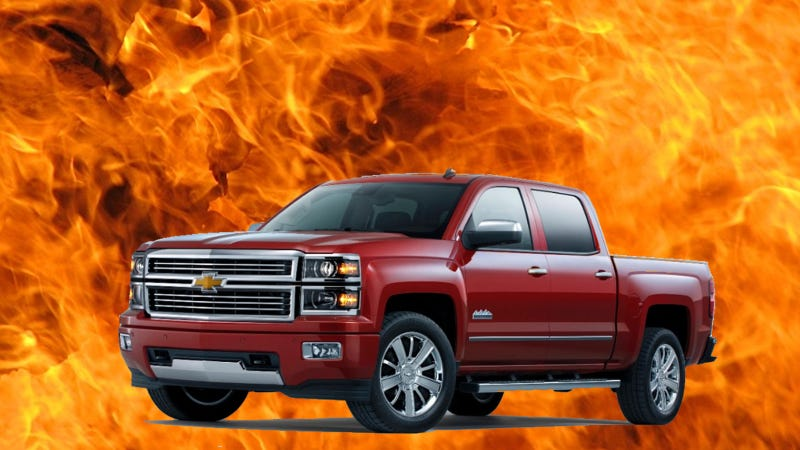 Illustration for article titled 2014 GM Full-Size Trucks Spontaneously Combusting, Recall Issued