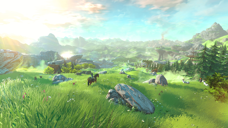 Illustration for article titled A Field In Hyrule Is Your New Desktop Wallpaper