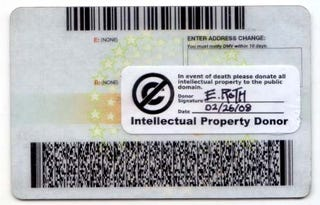 Illustration for article titled Intellectual Property Donor Sticker Proves Your Unrealistic Arrogance After You're Dead
